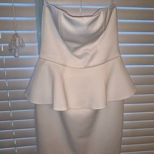 White Peplum mini dress